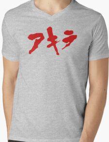 Akira Japanese Kanji Logo Mens V-Neck T-Shirt