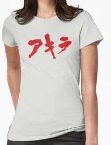Akira Japanese Kanji Logo Womens Fitted T-Shirt