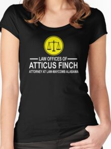 Atticus Finch Funny Women's Fitted Scoop T-Shirt