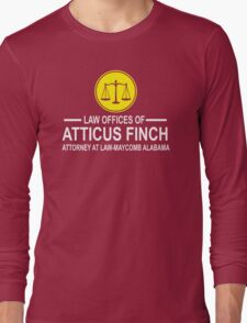 Atticus Finch Funny Long Sleeve T-Shirt