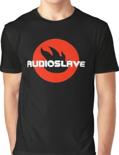 AUDIOSLAVE Rock Band Logo Graphic T-Shirt
