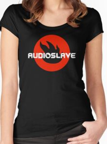 AUDIOSLAVE Rock Band Logo Women's Fitted Scoop T-Shirt