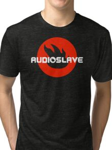 AUDIOSLAVE Rock Band Logo Tri-blend T-Shirt