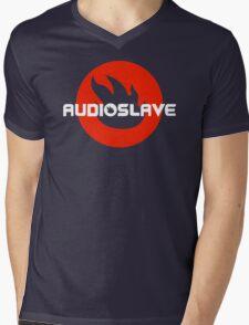 AUDIOSLAVE Rock Band Logo Mens V-Neck T-Shirt