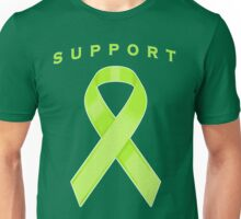 Lime Green Awareness Ribbon of Support Unisex T-Shirt