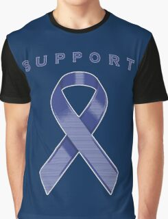 Blue Awareness Ribbon of Support Graphic T-Shirt