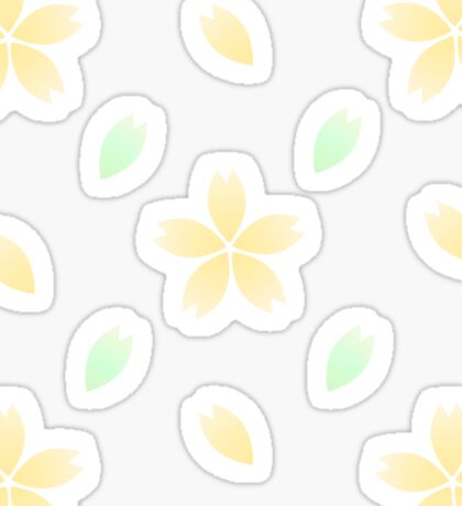Yellow Blossom Cluster Sticker