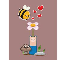 Bee in love Photographic Print