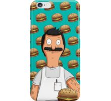 Bob Belcher Burger Pattern Blue iPhone Case/Skin