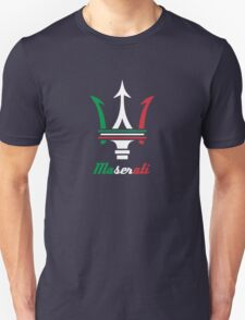 Maserati Italy flag products Unisex T-Shirt