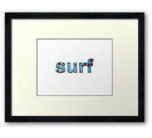 surf simple Framed Print