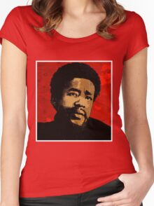 BOBBY SEALE-BLACK PANTHER Women's Fitted Scoop T-Shirt