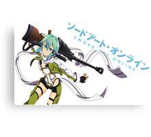 Sword Art Online- Sinon Canvas Print