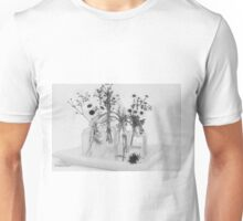 Four Bottles And Their Flowers Unisex T-Shirt