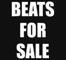 Beats For Sale Hip Hop Rap Producer Kids Tee