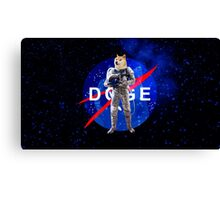 Doge Astronaut In Space Canvas Print
