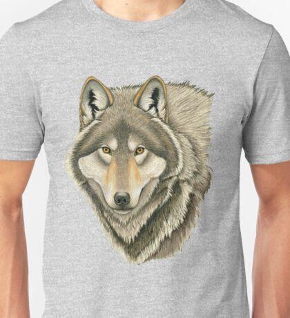 Grey Wolf Portrait Unisex T-Shirt