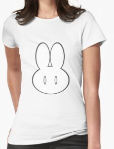 Simple Bunny Head Womens Fitted T-Shirt