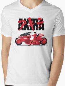 Akira Pixelart Mens V-Neck T-Shirt