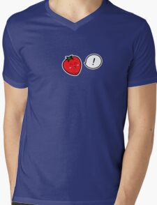 Happy Strawberry - two lof bees Mens V-Neck T-Shirt