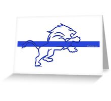 blueline LEO tshirt Greeting Card