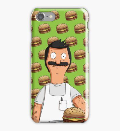 Bob Belcher Burger Pattern Green iPhone Case/Skin