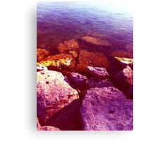 Pink Candy Rock Beach Canvas Print