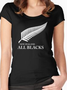Kiwi All Blacks New Zealand Women's Fitted Scoop T-Shirt