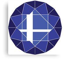 Blue Updated Logo Canvas Print