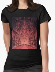The Gates of Barad Dûr Womens Fitted T-Shirt