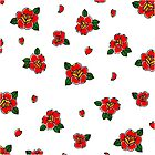 Traditional rose tattoo all over print by integralapparel
