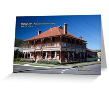 CBC Bed & Breakfast & Cafe (1902), Paterson, NSW Australia Greeting Card
