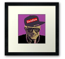 Bernie = Yung Political Genius Framed Print
