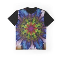 Electric Blue Graphic T-Shirt