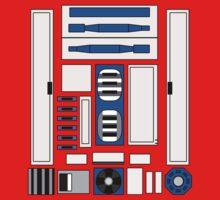 R2 D2 One Piece - Short Sleeve