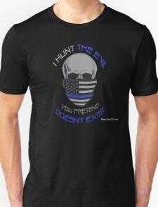 BLUE Line Skull T-Shirt