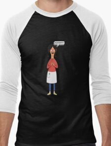 Linda Belcher Wine Pattern Purple Men's Baseball ¾ T-Shirt
