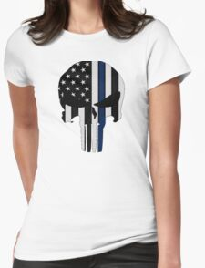 Police Punisher Womens Fitted T-Shirt