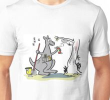 Cartoon kangaroo spring cleaning with mop and bucket Unisex T-Shirt