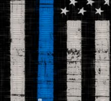Police blue line Flag Sticker