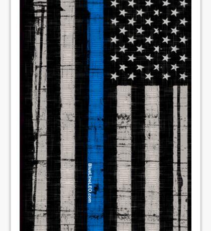 Police blue line Flag Sticker