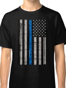 Police blue line Flag Classic T-Shirt