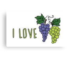 I love grapes Canvas Print