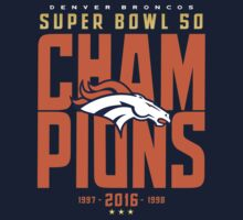 Broncos Super Bowl Champions BLUE Baby Tee