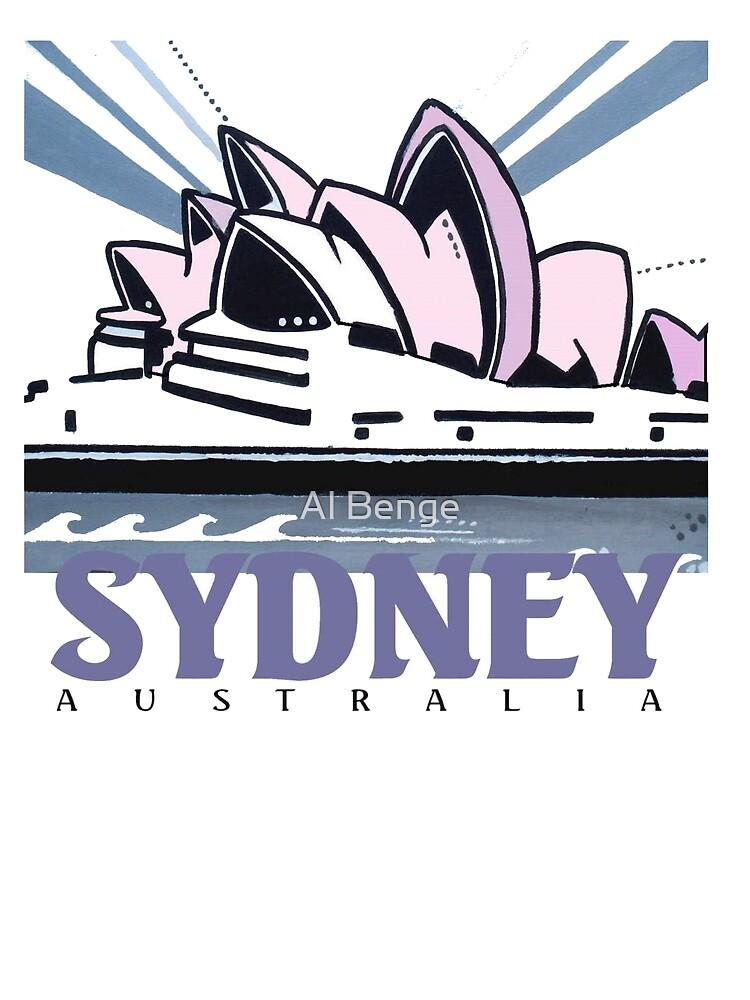Opera House Sydney pop art design by Al Benge