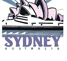 Opera House Sydney pop art design by Al Benge