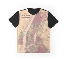 Plan of New York and Brooklyn - 1868 Graphic T-Shirt