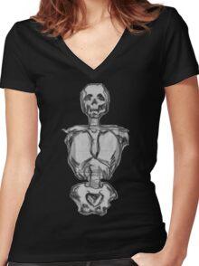 Skeletorso Women's Fitted V-Neck T-Shirt