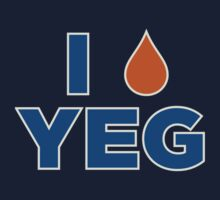 I HEART YEG Kids Tee