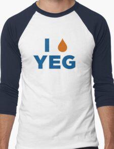 I HEART YEG Men's Baseball ¾ T-Shirt